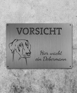 Schild Dobermann