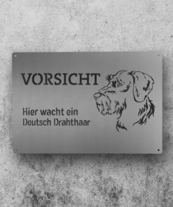 Hundewarnschild // Deutsch Drahthaar