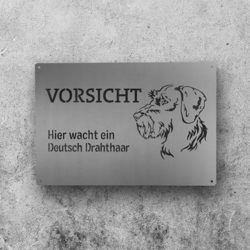 Hundewarnschild // Deutsch Drahthaar