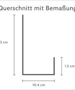 Querschnitt Jagd-Schluesselboard-mit-Ablage