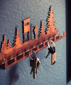 Schlüsselboard / Garderobe Jagd Rostdesign