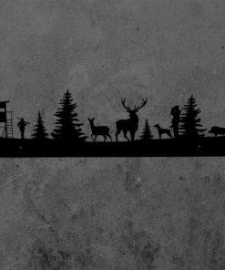 Jagd Garderobe Schwarz Rückseite