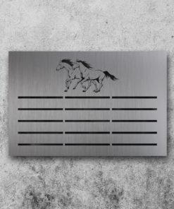 Schleifenboard Pferd - Vorderseite