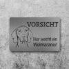 Hundeschild Weimaraner