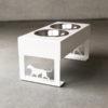 Futterstation DOGLINE Weiß Vorstehhund